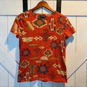 Aztec print Ralph Lauren T-shirt